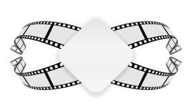 Bannière de papier sur le fond de bobine de film photographie stock libre de droits
