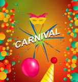 Bannière de partie de carnaval image stock