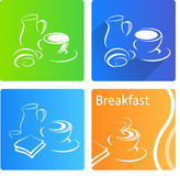 Bannière de petit déjeuner Photos libres de droits