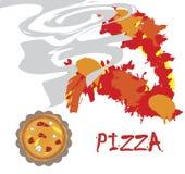 Bannière de pizza Photographie stock libre de droits