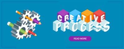 Bannière de processus créative illustration stock