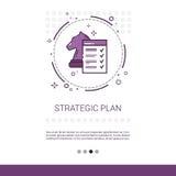 Bannière de processus de Web de vente de stratégie commerciale de planification avec l'espace de copie illustration de vecteur
