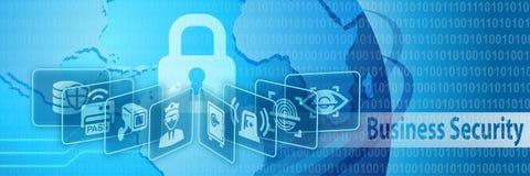 Bannière de protection de sécurité d'affaires Image libre de droits