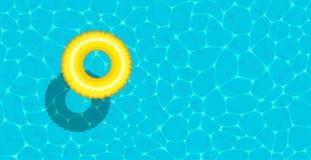 Bannière de réception au bord de la piscine d'été avec l'espace pour le texte illustration libre de droits