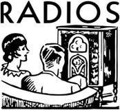 Bannière de radios Photographie stock libre de droits