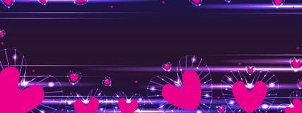 Bannière de rayon d'amour Photo stock