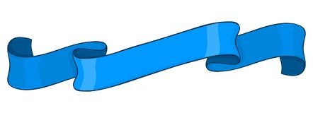 Bannière de ruban bleu illustration de vecteur