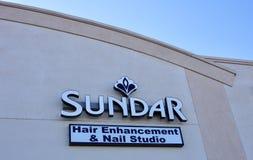 Bannière de salon de coiffure de Sundar, Memphis, TN photographie stock libre de droits