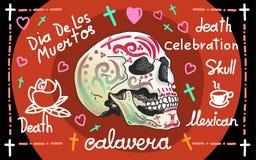 Bannière de salutation de Calavera Photographie stock libre de droits