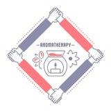 Bannière de site Web et page d'atterrissage d'Aromatherapy illustration libre de droits
