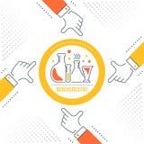 Bannière de site Web et page d'atterrissage de la biochimie illustration libre de droits