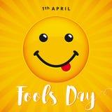 Bannière de sourire d'April Fools Day Photo libre de droits