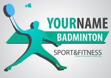 Bannière de sport de logo de marque d'affaires de cour de badminton Photo libre de droits