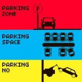 Bannière de stationnement Photographie stock