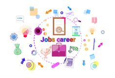 Bannière de succès de Job Career Growth Concept Professional Illustration Libre de Droits