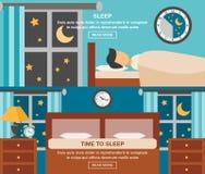 Bannière de temps de sommeil Images libres de droits