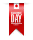 Bannière de texture de jour de souvenir de Canada Image libre de droits
