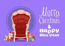 Bannière de vacances d'hiver de concept de carte de voeux de Joyeux Noël et de bonne année Image stock