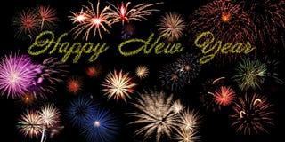 Bannière de vacances de nouvelle année Photos libres de droits