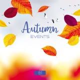 Bannière de vecteur de ciel d'automne Image stock
