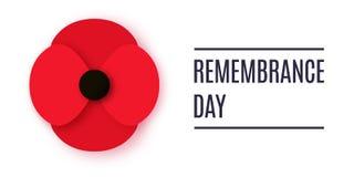 Bannière de vecteur d'Anzac Day Le papier a coupé la fleur rouge de pavot - un symbole de jour de souvenir international illustration de vecteur
