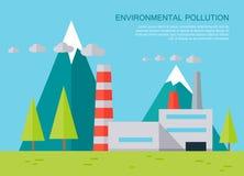 Bannière de vecteur de concept de pollution environnementale Images stock