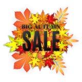Bannière de vecteur de vente d'automne Photo stock
