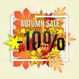 Bannière de vecteur de vente d'automne Photographie stock