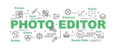Bannière de vecteur de photographe éditeur illustration libre de droits