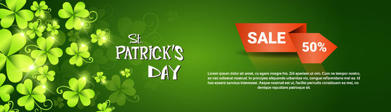 Bannière de vente au rabais d'offre de Patrick Day Beer Festival Special de saint Images stock