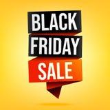 Bannière de vente de Black Friday en jaune illustration stock