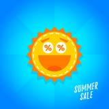 Bannière de vente d'été de vecteur Photo stock