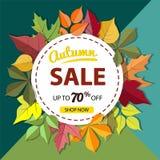 Bannière de vente d'automne Photo stock