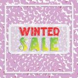 Bannière de vente d'hiver avec des flocons de neige et des rectangles sur un fond rose Photographie stock libre de droits