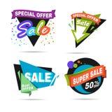 Bannière de vente d'offre spéciale Label de prix discount Photos libres de droits