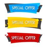 Bannière de vente d'offre spéciale pour votre conception, festival d'événement de dégagement de remise, illustration Photographie stock libre de droits