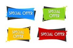 Bannière de vente d'offre spéciale pour votre conception festival d'événement de dégagement de remise Style minimal Prix à payer  Image libre de droits