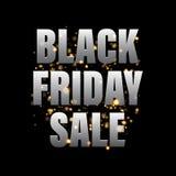 Bannière de vente de Black Friday, affiche, carte de remise Illustration Libre de Droits