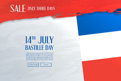 Bannière de vente de jour de bastille Image stock