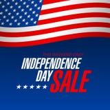 Bannière de vente de Jour de la Déclaration d'Indépendance Image libre de droits