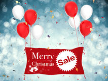 Bannière de vente de Joyeux Noël Photo stock