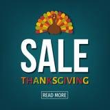Bannière de vente de jour de thanksgiving des Etats-Unis illustration de vecteur