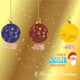 Bannière de vente de Joyeux Noël et de bonne année illustration libre de droits