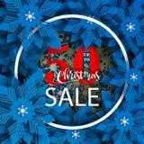 Bannière de vente de Noël Nouvelle année 2019 et conception de Noël illustration libre de droits