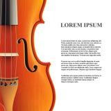 Bannière de violon Vecteur Photographie stock libre de droits