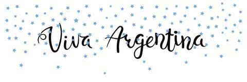 Bannière de Viva Argentina Photo stock