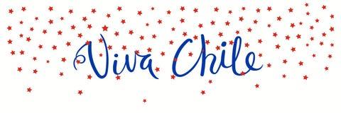 Bannière de Viva Chile illustration stock