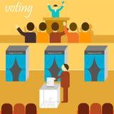 Bannière de vote Photo libre de droits