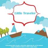 Bannière de voyage Photos libres de droits