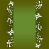 Bannière de vue avec fleuri Photos stock
